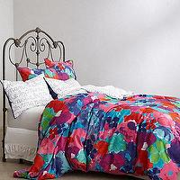 Bedding - Stellate Script Duvet I Anthropologie.com - multi-colored floral duvet, floral duvet, floral patterned duvet,