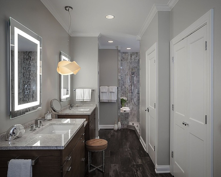 Gray Bathroom Contemporary Bathroom Beckwith Interiors