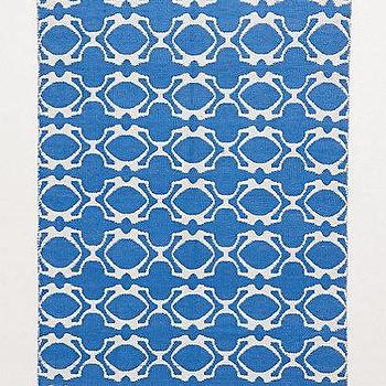 Rugs - Quatrefoil Outdoor Rug I Anthropologie.com - quatrefoil rug, blue and white quatrefoil rug, blue and white geometric rug,