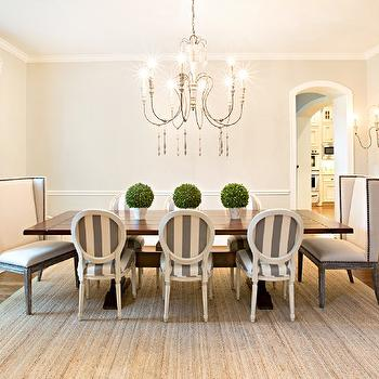 Striped Dining Chairs, French, dining room, Amanda Carol Interiors