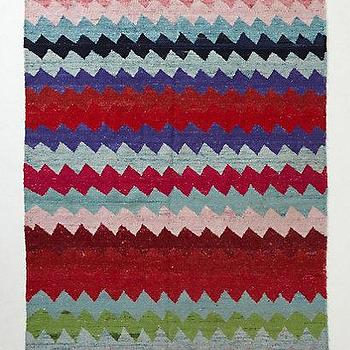 Rugs - Streaming Chevron Rug I Anthropologie.com - red green blue and pink chevron rug, multi-colored chevron rug, chevron rug,