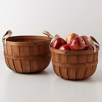 Decor/Accessories - Hand-Braided Apple Baskets I Anthropologie.com - apple baskets, hand-braided apple baskets, woven apple baskets,