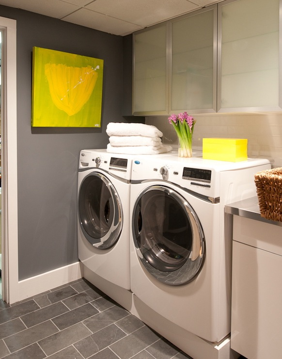 gray laundry room contemporary laundry room d2