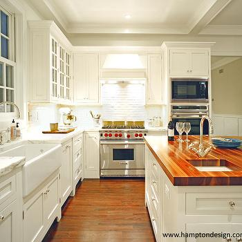 Walnut Countertop, Traditional, kitchen, Hampton Design