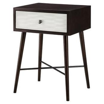 Tables - Threshold Modern Accent Table with Drawer I Target - modern accent table, espresso accent table with white drawer front, mid-century style accent table,