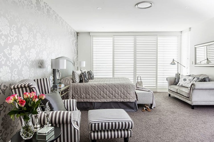 Bedroom Grey Wood Flooring Mirror Silver Lamps Couple Gl Windows White  Carpet From. Silver Grey Bedroom Carpet   Rapnacional info