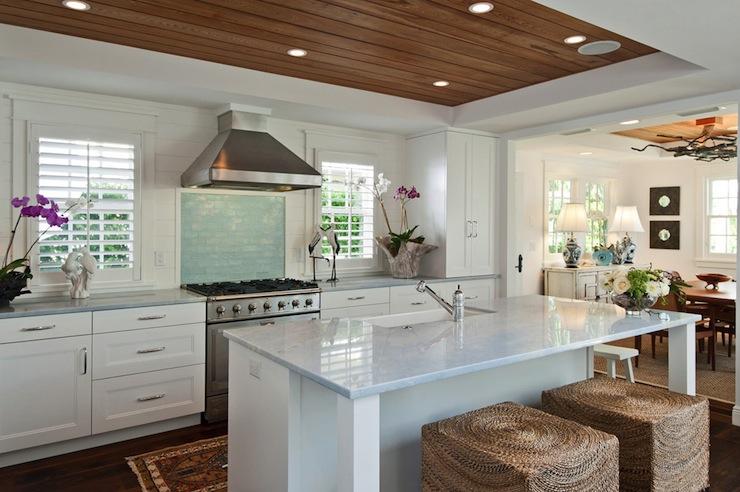 seagrass cube ottomans cottage kitchen mhkap