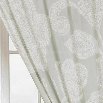 Window Treatments - Plum & Bow Sugarplum Lace Curtain I Urban Outfitters - gray and white paisley drapes, gray and white paisley curtains, gray and white paisley draperies,