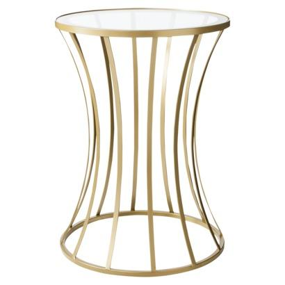 Metal And Glass Accent Table Gold I Target