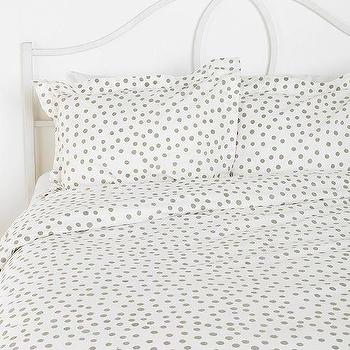 Bedding - Plum & Bow Polka Dot Sham - Set Of 2 I Urban Outfitters - gray and white polka dot bedding, gray and white polka dot shams, polka dot bedding,