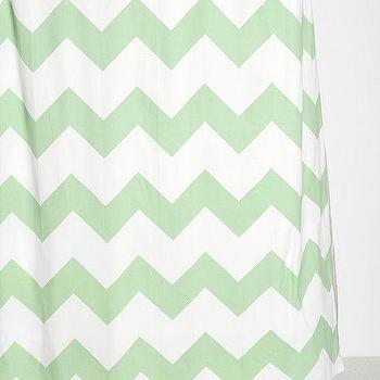 Bath - Zigzag Shower Curtain I Urban Outfitters - zigzag shower curtain, chevron shower curtain, green and white chevron shower curtain, mint green and white chevron shower curtain,