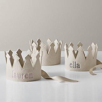 Decor/Accessories - Wool Felt Crown | Restoration Hardware Baby & Child - monogrammed crown, monogrammed felt crown, felt kids crown,