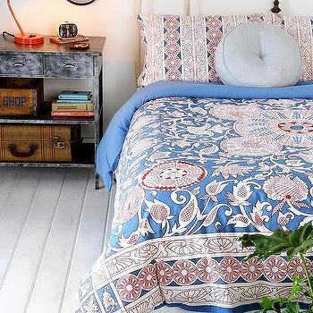 Bedding - Magical Thinking Vayaa Duvet Cover I Urban Outfitters - red white and blue floral medallion bedding, floral medallion duvet cover, red white and blue floral medallion duvet cover,