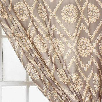 Window Treatments - Plum & Bow Two-Tone Eyelet Curtain I Urban Outfitters - gray and ivory patterned drapes, gray and ivory drapes, gray and ivory curtains,