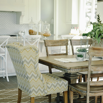 Chevron Chair, Transitional, dining room, Davies Development
