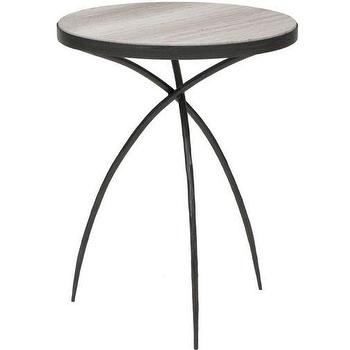 Tables - Tripod Table Small I High Fashion Home - iron side table, modern iron side table, iron side table with marble top, iron tripod side table, tripod side table,