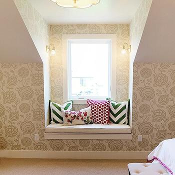 Girl's Window Seat, Contemporary, girl's room, Utah Valley Parade of Homes