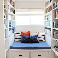 Built in daybed cottage living room molly frey design Built in reading nook