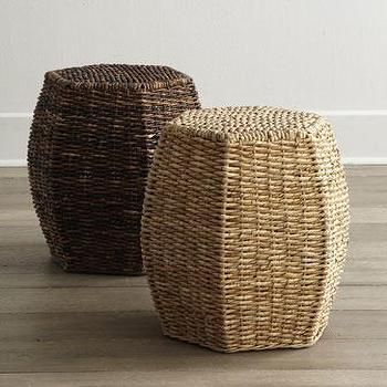 Seating - Woven Garden Seats I Horchow - woven stool, woven garden stool, woven garden seat,