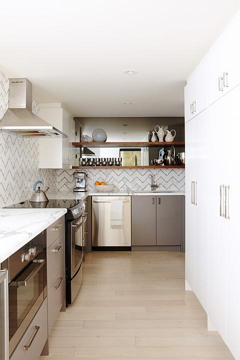 Chevron Backsplash Contemporary Kitchen Sarah