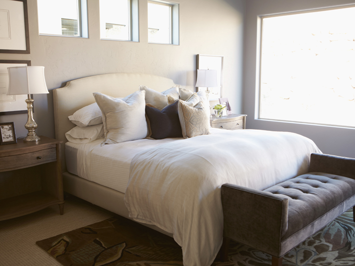 Gray Bedroom Colors Transitional Bedroom Sherwin