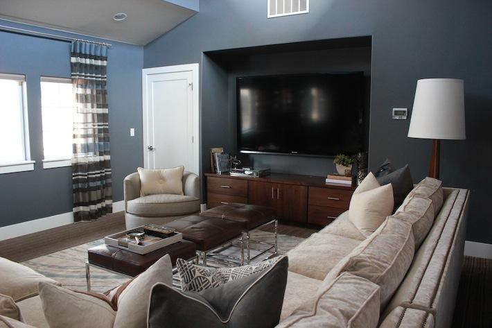 Tv Alcove Contemporary Living Room Alice Lane Home