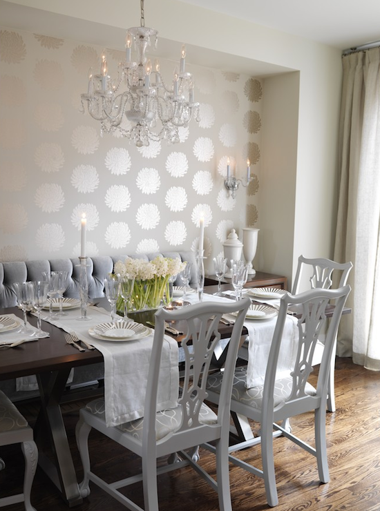 white chippendale chairs contemporary dining room