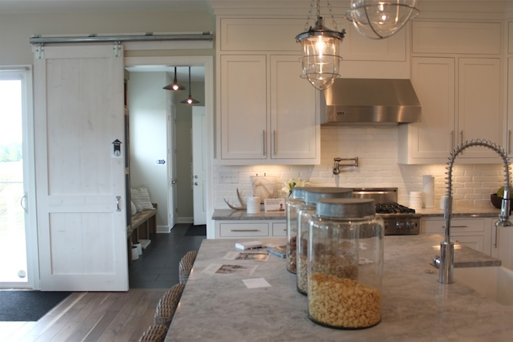 Alpine White Granite Countertops Transitional Kitchen The Fat