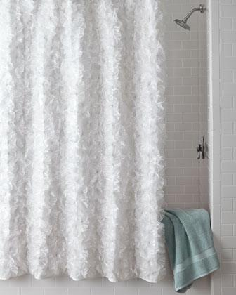 Room Darkening Curtain Rods White Metallic Shower Curtain