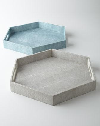 Regina-Andrew Design Faux-Shagreen Hex Tray I Horchow