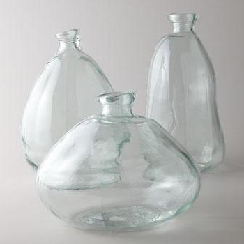 Decor/Accessories - Morph Vases I Horchow - glass vase, hand blown glass vase, recycled glass vase,
