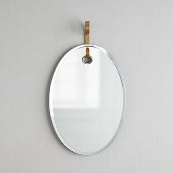 Mirrors - Arteriors Vienna Oval Mirror I Horchow - oval mirror, oval wall mirror, contemporary oval mirror,