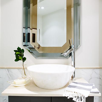 Off Set Faucet, Contemporary, bathroom, Sarah Richardson Design