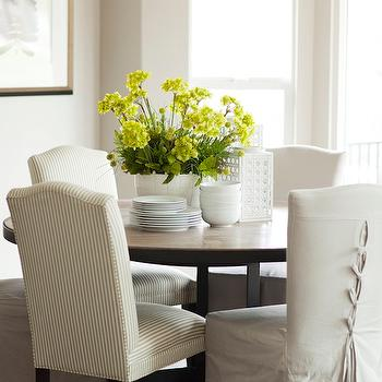 Striped Dining Chairs, Traditional, dining room, Alice Lane Home