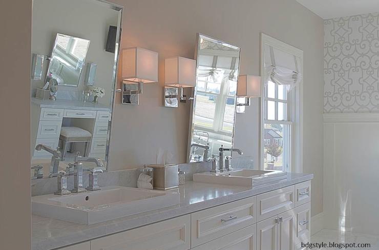 Rectangular Pivot Mirrors Transitional bathroom Belmont