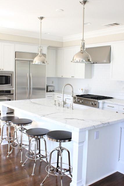 Calacatta Marble Transitional Kitchen Belmont Design