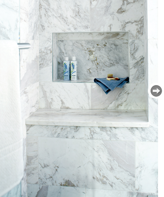 Marble Shower Bench Transitional Bathroom Style