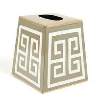 Decor/Accessories - Greek Key Tissue Box Cover I Furbish Studio - greek key tissue boz cover, tissue box cover,