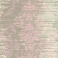 Wallpaper - Damask Stripe Wallpaper by Seabrook Wallcoverings | BURKE DECOR - pink and green damask wallpaper, pink and green damask striped wallpaper, damask wallpaper,