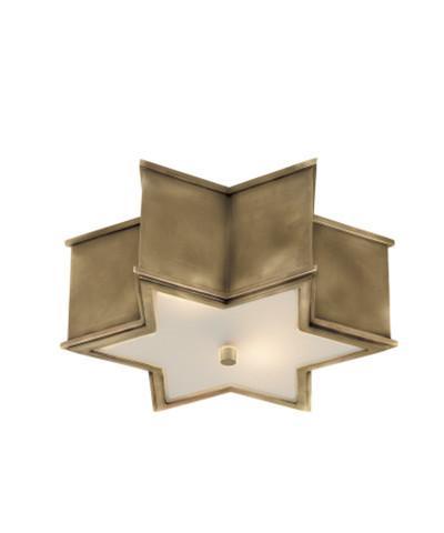 sophia small flush mount natural brass i high street market