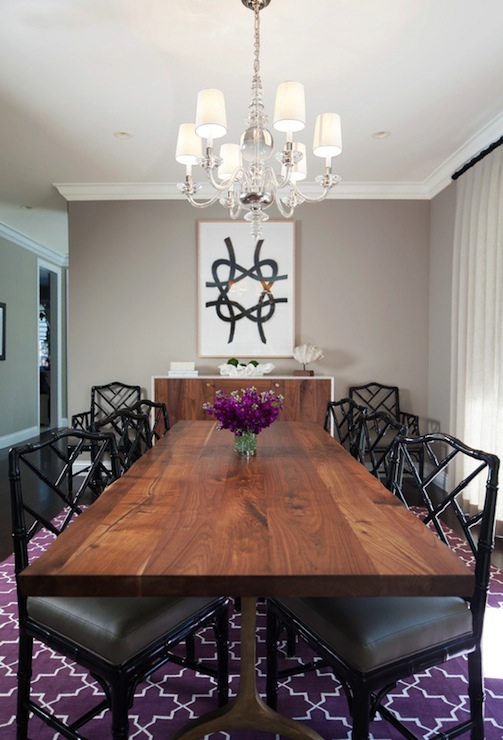 purple and gray dining room contemporary dining room kate collins