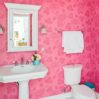 Pink Girl's Bathroom, Contemporary, bathroom, Natalie Clayman Interior Design