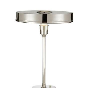 Lighting - Carlo Table Lamp, Polished Nickel I High Street Market - polished nickel table lamp, polished nickel modern table lamp, nickel table lamp,