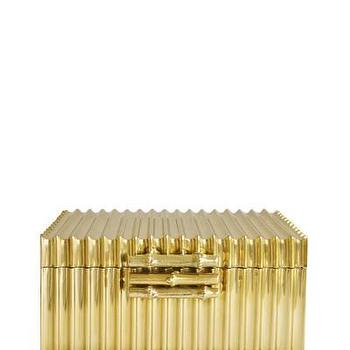 Decor/Accessories - Solid Brass Faux Bamboo Box with Lid I High Street Market - brass faux bamboo box, lidded brass faux bamboo box, solid brass faux bamboo box,