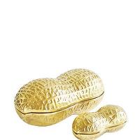 Decor/Accessories - Brass Peanut Box I High Street Market - brass peanut box, peanut shaped brass box, brass peanut decor,