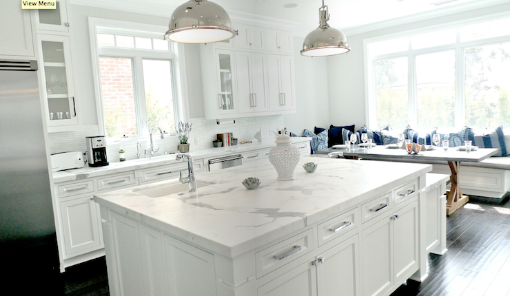 Calcutta Gold Marble Transitional Kitchen Paint