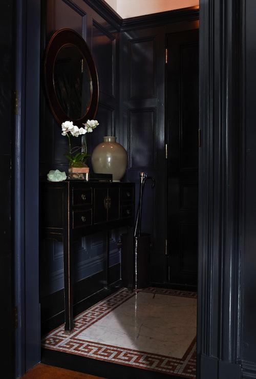 Apartment Foyer Key : Greek key floor eclectic entrance foyer sawyer berson