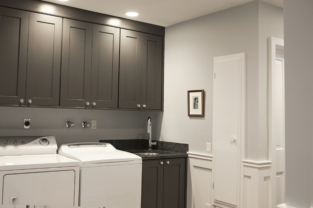 Gray laundry room cabinets traditional laundry room debra kling