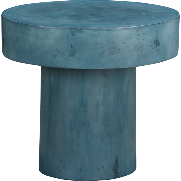 Tables - shroom side table | CB2 - indigo blue side table, modern side table, mushroom shaped side table,