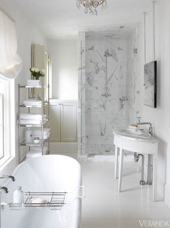 Half Moon Vanity Traditional Bathroom Veranda